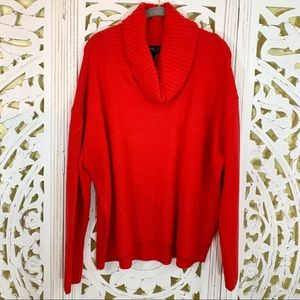 Rachel Zoe Red Cowl Neck Sweater